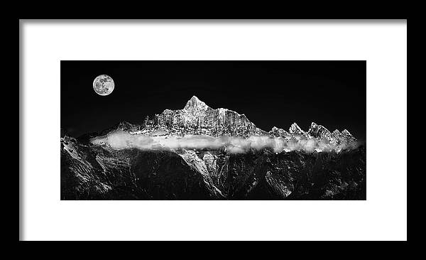 Panorama Framed Print featuring the photograph The Jade Belt by Selinos