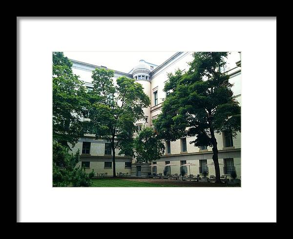 Courtyard Framed Print featuring the photograph The Jefferson Building Courtyard by Lois Ivancin Tavaf