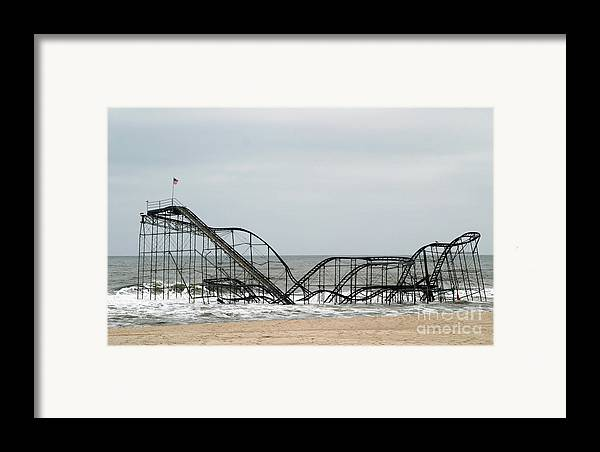 Iconic Framed Print featuring the photograph The Jetstar Rollercoaster In Seaside Heights Nj by Living Color Photography Lorraine Lynch