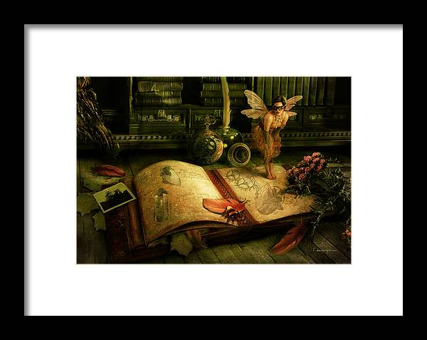 Fantasy Framed Print featuring the digital art The Journal by Cassiopeia Art