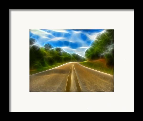 Road Framed Print featuring the digital art The Journey by Wendy J St Christopher