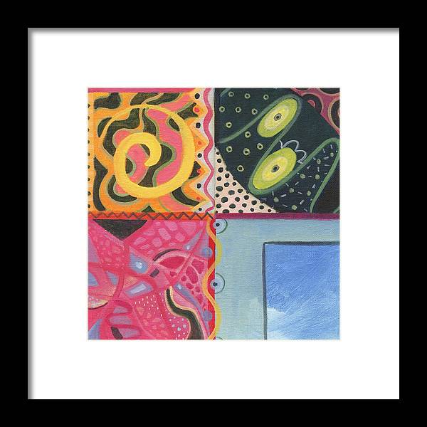 Design Framed Print featuring the painting The Joy Of Design I X by Helena Tiainen