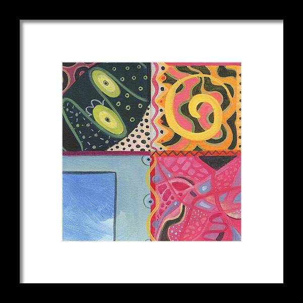 Abstract Framed Print featuring the digital art The Joy Of Design I X Part 2 by Helena Tiainen