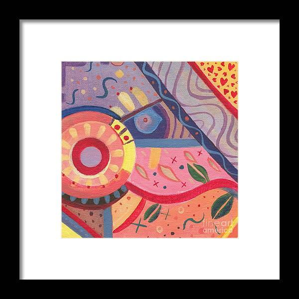 Abstract Framed Print featuring the painting The Joy Of Design X V I I I by Helena Tiainen