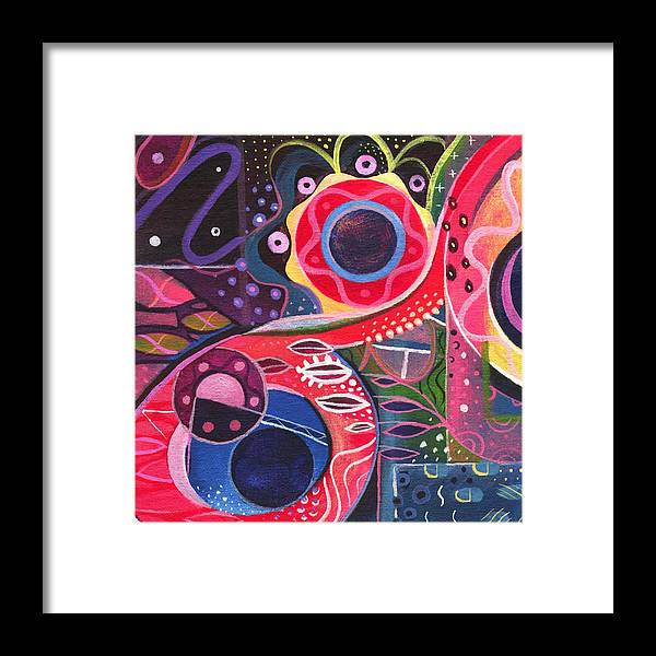 Abstract Framed Print featuring the painting The Joy Of Design Xlll Part 2 by Helena Tiainen