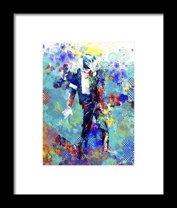 Michael Jackson Framed Print featuring the painting The king by Bekim M