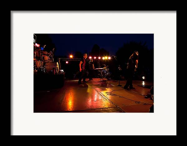 The Kingpins Framed Print featuring the photograph The Kingpins Rock The Night Away by David Patterson