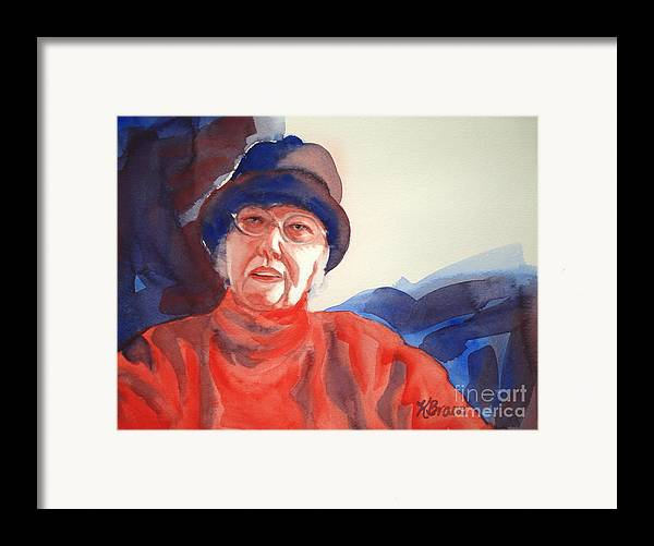 Painting Framed Print featuring the painting The Lady In Red by Kathy Braud