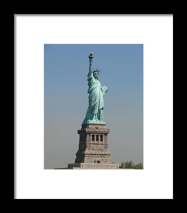 Statue Of Liberty Framed Print featuring the photograph The Lady by Ricardo Antoni