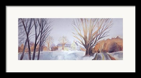 The Landscape Listens Framed Print featuring the painting The Landscape Listens by Grace Keown