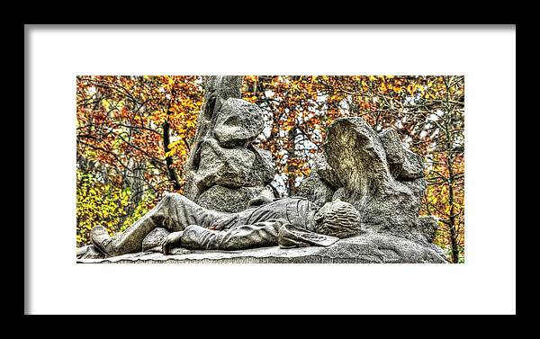 Civil War Framed Print featuring the photograph The Last Full Measure - Gettysburg National Military Park Autumn by Michael Mazaika
