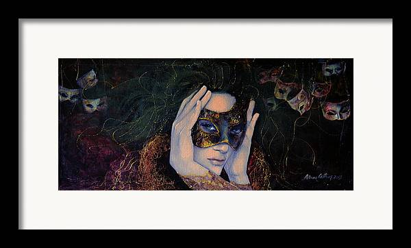 Art Framed Print featuring the painting The Last Secret by Dorina Costras