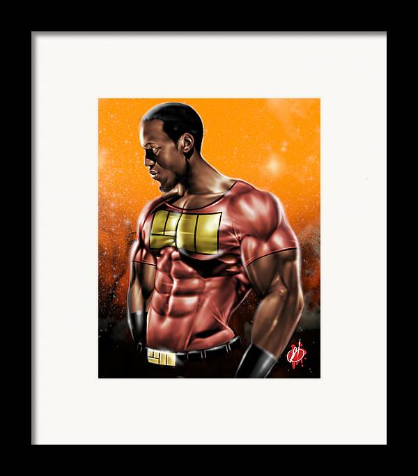 Will Framed Print featuring the painting The Legend Of Will Power by Pete Tapang