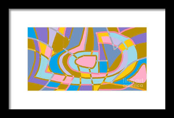 Digital Framed Print featuring the digital art The Letter D and Punctuation by Beebe Barksdale-Bruner