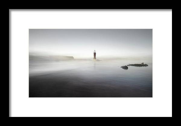 Landscape Framed Print featuring the photograph The Lighthouse Of Nowhere by Santiago Pascual Buye