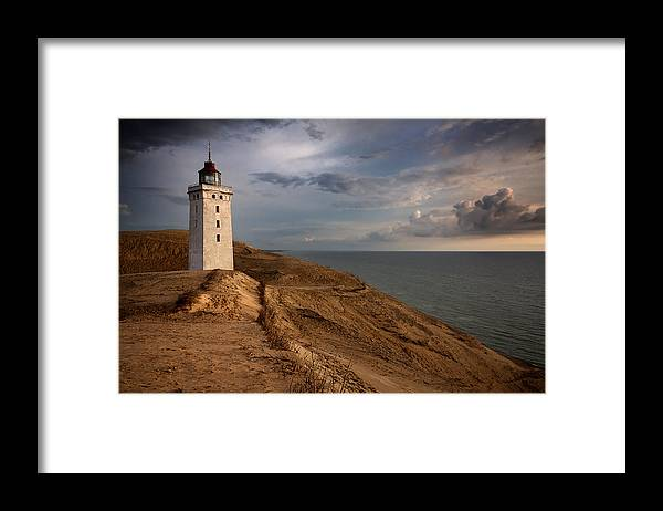 Rubjerg Knude Framed Print featuring the photograph The Lighthouse by Paul Davis