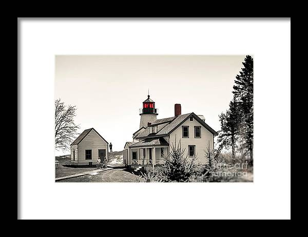 Lighthouse Framed Print featuring the photograph The Lightkeeper by Brenda Giasson