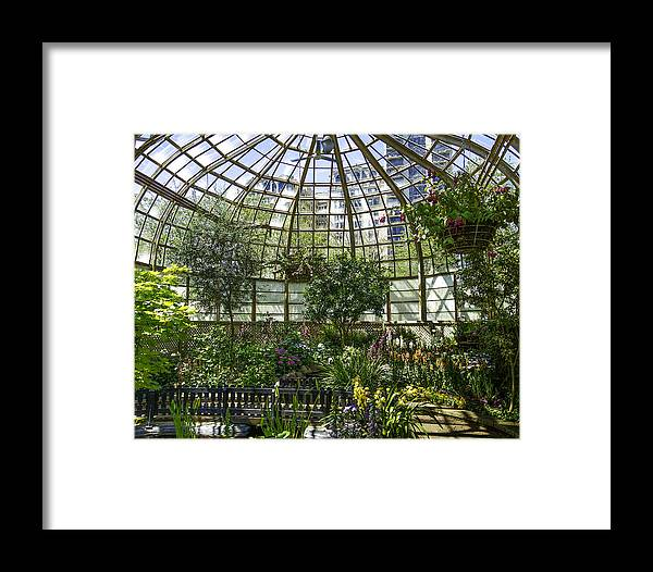 Lincoln Park Photographs Framed Print featuring the photograph The Lincoln Park Conservatory Chicago-001 by David Allen Pierson