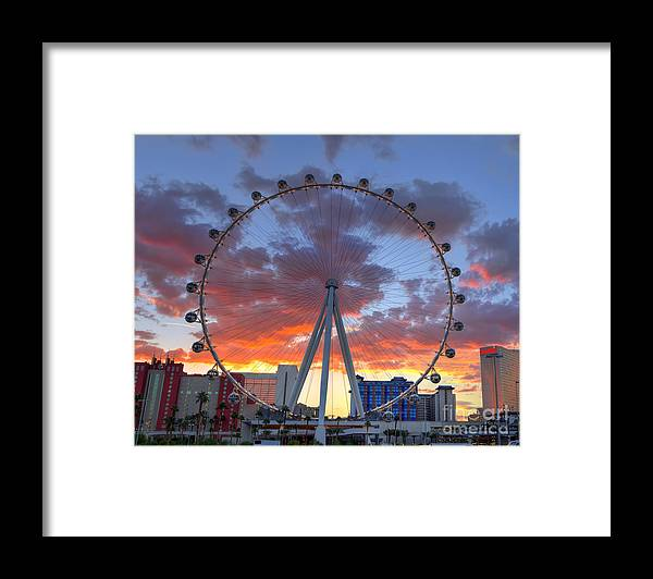 Linq Framed Print featuring the photograph High Roller At The Linq by Eddie Yerkish