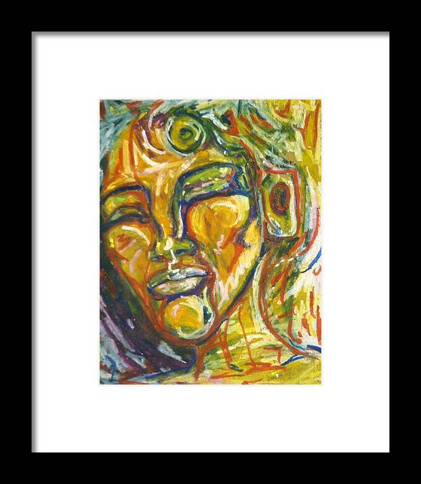 Listen Framed Print featuring the painting The Listener by Laura Walker