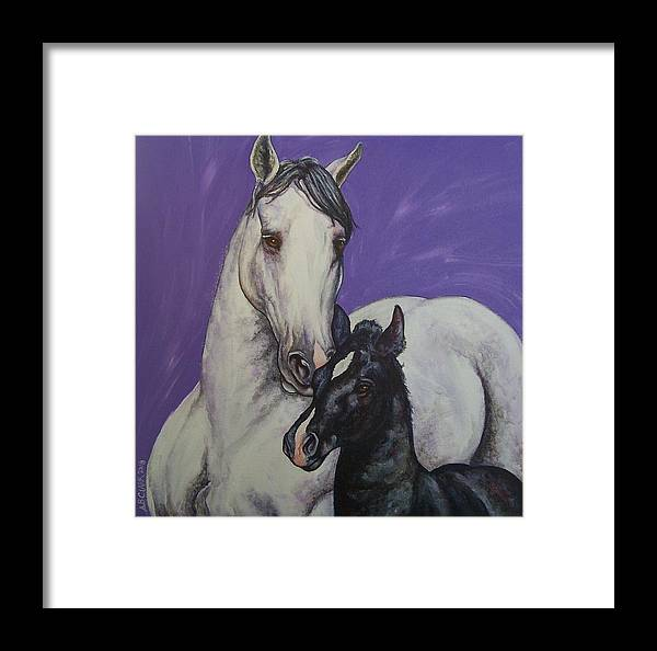Horse Framed Print featuring the painting The Little Prince by Beth Clark-McDonal