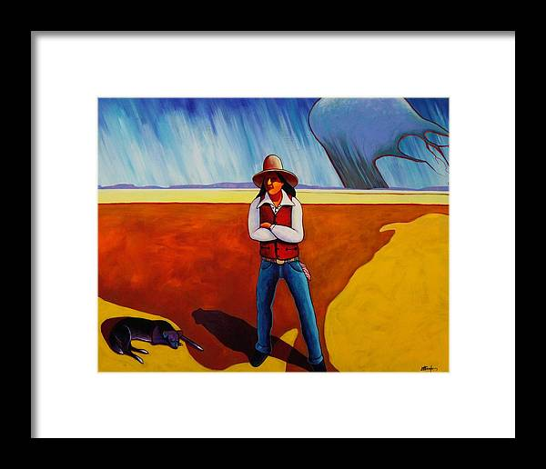 Native American Framed Print featuring the painting The Logic Of Solitude by Joe Triano