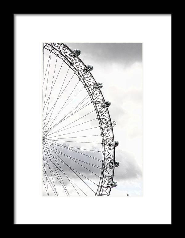 The London Eye Framed Print featuring the photograph The London Eye by Jim Pruett
