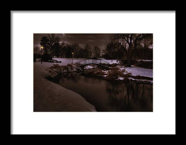 Winter Framed Print featuring the photograph The Lonely Bridge by Kris Franklin