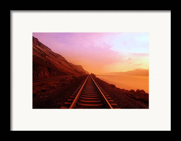 Columbia River Framed Print featuring the photograph The Long Walk To No Where by Jeff Swan