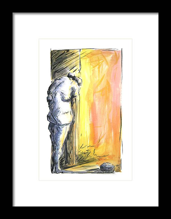 Mental Framed Print featuring the painting The Loss 2010 by Thomas Griffith