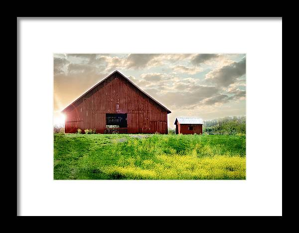 Barn Framed Print featuring the photograph The Lost Barn by Melissa Blazer