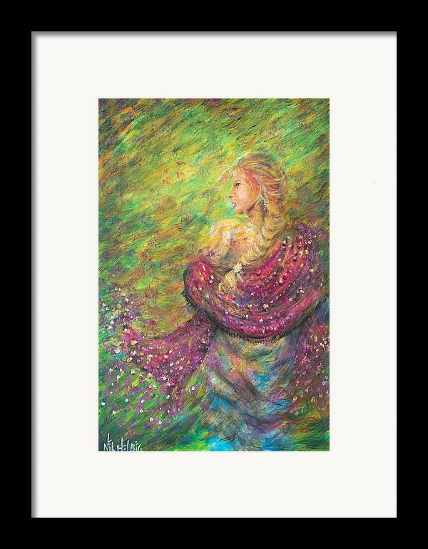 Lady Framed Print featuring the painting The Magdelene by Nik Helbig
