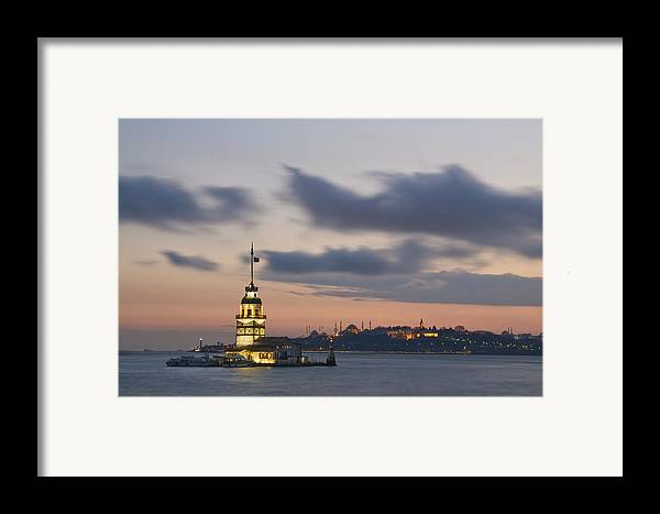 Turkey Framed Print featuring the photograph The Maiden's Tower by Ayhan Altun