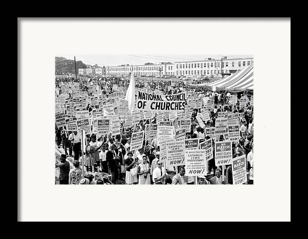 Civil Rights Framed Print featuring the photograph The March For Civil Rights by Benjamin Yeager
