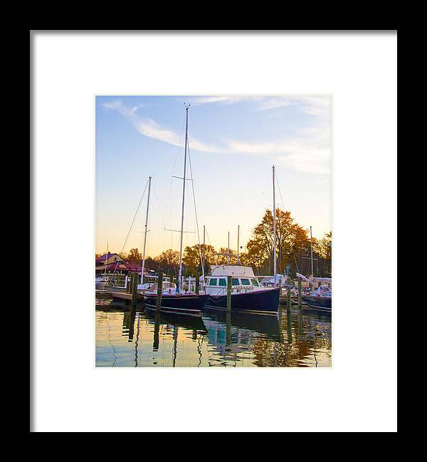 Marina Framed Print featuring the photograph The Marina At St Michael's Maryland by Bill Cannon