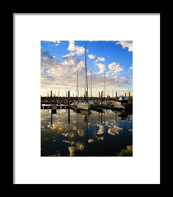 Boat Framed Print featuring the photograph The Marina by Gene Praag