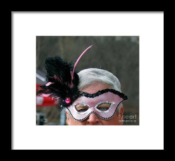 Men Framed Print featuring the photograph The Masked Warrior by Steven Digman
