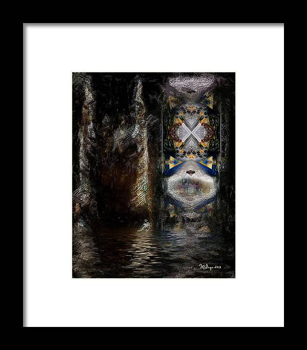 Colorful Framed Print featuring the digital art The Masquerade by Mike Butler