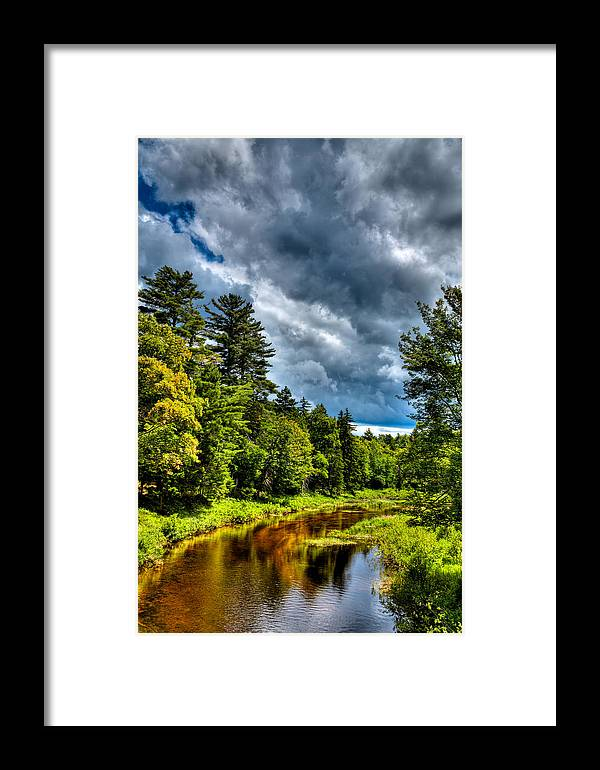 Adirondack's Framed Print featuring the photograph The Meandering Moose River by David Patterson