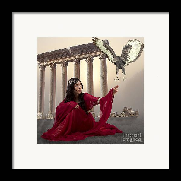 Fantasy Framed Print featuring the digital art The Message Bearer by Linda Lees
