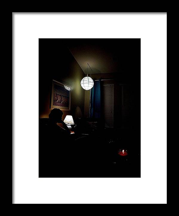 Candle Framed Print featuring the photograph The Midnight Conversation by Anthony Ackerman