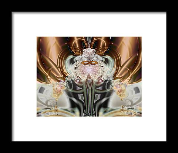 2-dimensional Framed Print featuring the digital art The Mighty Mouse A Quiet Riot by Dana Haynes
