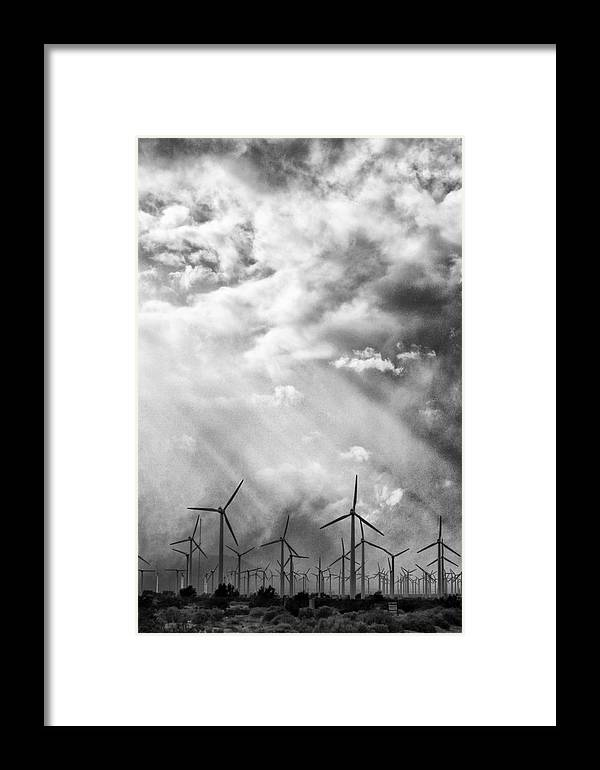 Windmills Framed Print featuring the photograph The Mighty Wind Palm Springs by William Dey