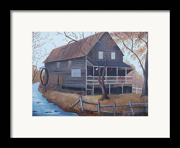 Original Framed Print featuring the painting The Mill by Glenda Barrett