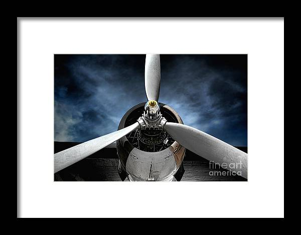 Plane Framed Print featuring the photograph The Mission by Olivier Le Queinec
