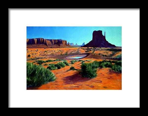 Landscape Paintings Framed Print featuring the painting The Mitten by David Zimmerman