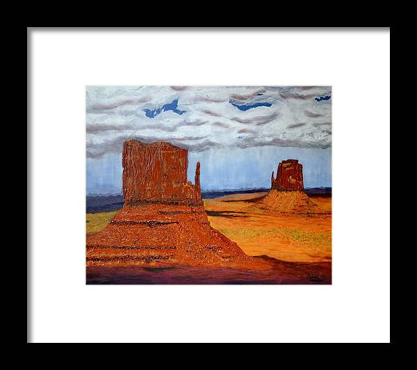 Nature Framed Print featuring the painting The Mittens by Delace Canada
