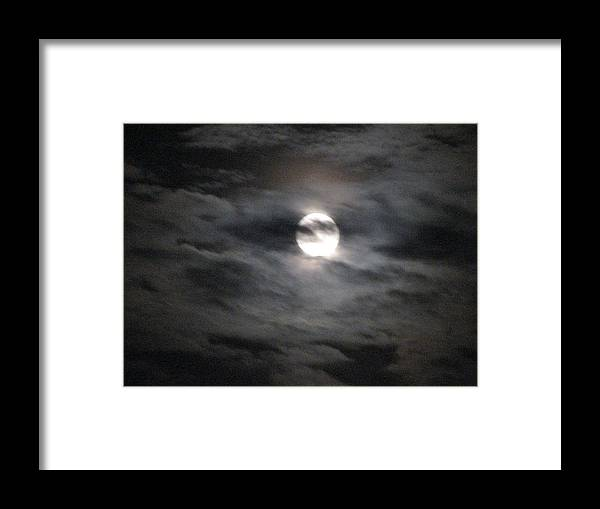 Nature Framed Print featuring the photograph The Moon by Michelle Lawrence