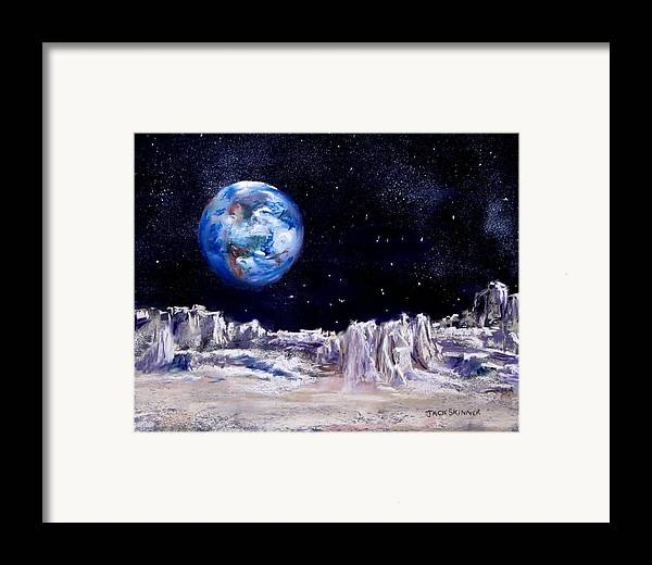 Moon Framed Print featuring the painting The Moon Rocks by Jack Skinner