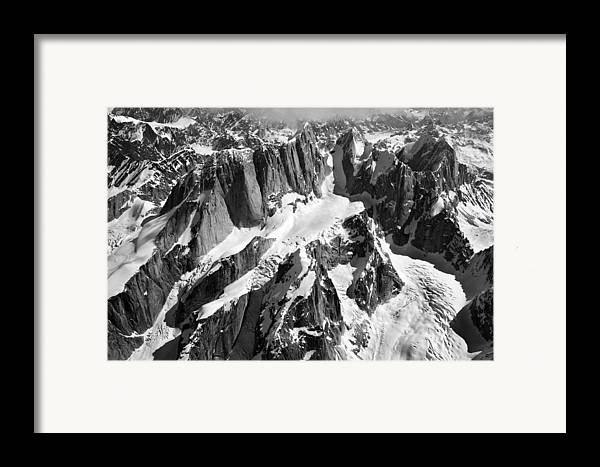 Mooses Tooth Framed Print featuring the photograph The Mooses Tooth Alaska by Alasdair Turner